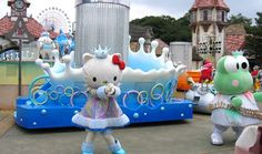 Hello Kitty Sanrio Puroland in Tokyo- Hello Kitty Theme Park.  Explore her house and her world, and meet her in person! Cos why not?