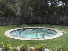 Hidden Water Pool.  Unbelievable.  Love it! (Cool Pools Stock Tank)
