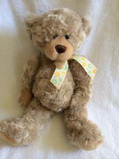 "Ganz Teddy Bear Bradley H8827 15"" Light Brown Plush Stuffed Animal Lovey Floral | eBay"