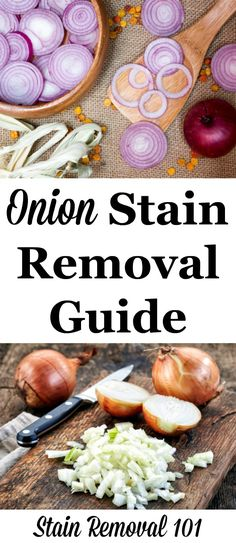 Step by step instructions for onion stain removal from clothing, upholstery and carpet {on Stain Removal 101}