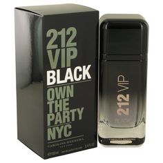 212 VIP Black by Carolina Herrera Eau De Parfum Spray oz for Men: Created by Anna Flipo and Carlos Benaim, 212 VIP Black was launched by the Carolina Herrera line in The. Carolina Herrera Eau De Parfum, Carolina Herrera 212 Vip, Best Perfume For Men, 212 Man, Perfume And Cologne, Perfume 212, Men's Cologne, Parfum Spray, Lavender