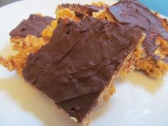finger licking chocolate peanut butter granola bars. You will never buy packaged bars again!!!