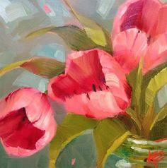 Erwachen Blumen Malen Acryl Malerei Blumen Malen