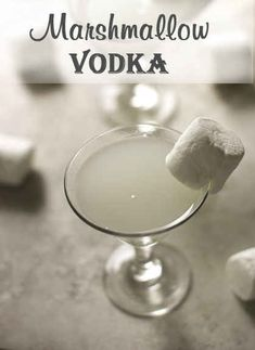 Marshmallow Vodka for spiking hot chocolate