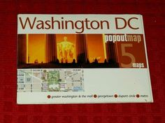 WASHINGTON DC Popout Map Unique Small DC MALL Georgetown Dupont Circle Metro