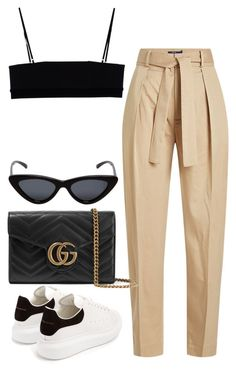 """Untitled #2000"" by vogueandmanolos ❤ liked on Polyvore featuring Alexander Wang, Polo Ralph Lauren, Alexander McQueen, Gucci and Le Specs"