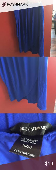 Cobalt blue plus size skirt OK ladies I am literally cleaning out my storage unit that has so many of my clothes that I no longer can wear.  I have lost 76 pounds. The clothes are all clean some of them are new and have never been worn.  They are wrinkled because they have been in boxes.  The price is firm. Ashley Stewart Skirts Midi