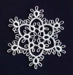 Speaking of Myra Piper's Tatting, here's another little snowflake I'm quite fond of. It's a slightly modified version of motif (the pa. Speaking of Myra Piper's Crochet Snowflake Pattern, Crochet Snowflakes, Crochet Patterns, Shuttle Tatting Patterns, Needle Tatting Patterns, Tatting Jewelry, Tatting Lace, Little Snowflake, Crochet Edgings