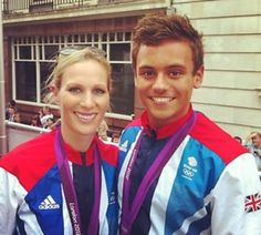 Zara Phillips and Tom Daley at the Olympic parade
