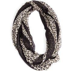 GUESS Cheetah-Print Infinity Scarf
