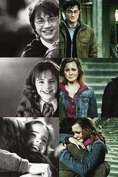 Hermione and Harry! Not that I don't like Ron but because Hermione and Harry are cuter together Mundo Harry Potter, Harry Potter Jokes, Harry Potter Pictures, Harry Potter Cast, Harry Potter Fandom, Harry Potter World, Harry Potter Friends, Harry Potter Spells, Harry Potter Hogwarts