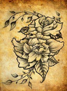 Shaded roses design tattoo inspiration