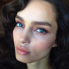 BTS: On set today with Luma Grothe. Makeup by Hung Vanngo for CK One Color.