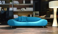 Harmony is a unique style sofa that offers an innovative design, comfortable seating on chrome polished conical steel feet.