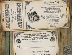 Movie Cinema inspired Film VIP Ticket by HydraulicGraphix on Etsy, $26.50