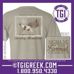 TGI Greek - Sigma Nu - Formal - Comfort Colors - Greek T-shirts #tgigreek #sigmanu