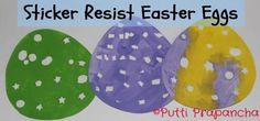 DIY easter crafts DIY Sticker Resist Easter Eggs DIY easter crafts