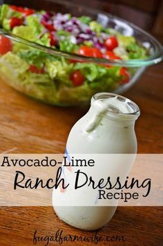 Avocado-Lime Ranch Dressing. This recipe takes ranch dressing to a whole new level with a bit of avocado and lime. So good! Especially on Taco salad.
