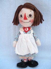 Raggedy Ann felt doll by Jody Battaglia