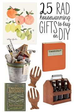 25 Rad Housewarming Gifts To Buy or DIY. Citrus Fruit Print Gift a special friend with this adorable citrus fruit print from Rifle Paper Co. A perfect addition to a kitchen or a house. From Rifle Paper Co. $24.