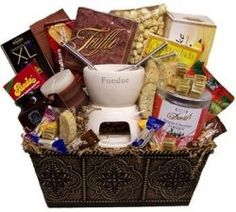 Fondue gift basket another date night basket?