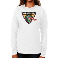 cea022cd3d80  24.95 UAB Blazers Ladies Distressed Logo Vintage Long Sleeve Slim Fit T- Shirt - White