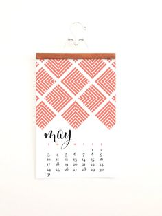 Etsy の 2015 Monthly Wall Calendar Bold Modern by ChristineMarieB