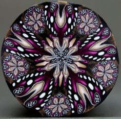 Circle Kaleidoscope Polymer Clay Cane 'Complicate' by ikandiclay