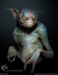 Alien Creature by Ken Barthelmey | 3D | CGSociety