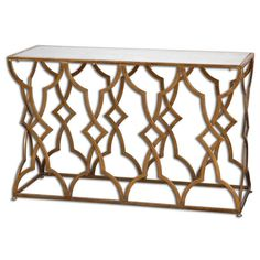Uttermost 24397 Osea Gold Console Table