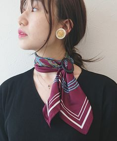 Scarf Rings, Fashion Jewelry, Women's Fashion, Winter Colors, Silk Scarves, Scarf Styles, Jewelry Accessories, Drop Earrings, Accessories