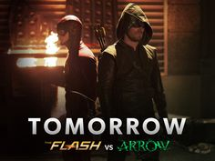 The ultimate showdown between #TheFlash and #Arrow begins TOMORROW at 8/7c! #Flarrow