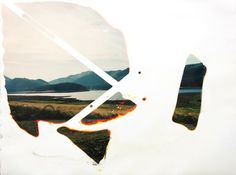 Matthew Brandt, Fall Creek Lake OR C-print soaked in Fall Creek Lake water Experimental Photography, Abstract Photography, Landscape Photography, Lake Photos, Photo D Art, Museum Of Contemporary Art, Seascape Paintings, Light Art, Psychedelic