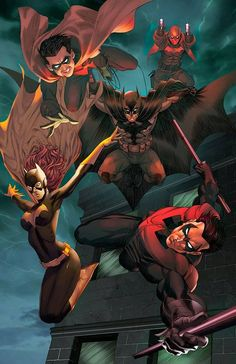 Bat Family by Mike S. Miller & Teodoro Gonzalez *