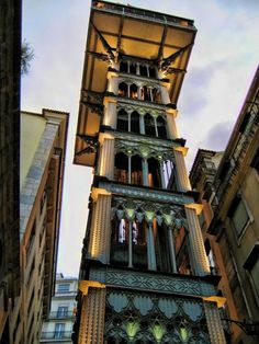 Elevador de Santa Justa - Baixa Chiado In case you do not feel like waiting in the queue or paying the ticket, access the lift from upper down (next to Carmo Convent) - you can walk on the same level where the elevator stops and go up the spiral stairs to enjoy the amazing views