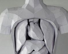 horst kiechle: paper torso with removable parts
