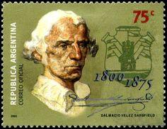 Stamp: Jurist Dalmacio Vélez Sársfield (Argentina) (Birth centenary) Mi:AR 2600,G&o:AR 3063,Gz :AR 2532