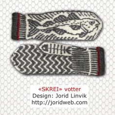 Klikk for å lukke bildet Knit Mittens, Mitten Gloves, Double Knitting Patterns, Textiles, Fair Isle Knitting, Drops Design, Yarn Needle, Hand Warmers, Crochet Clothes