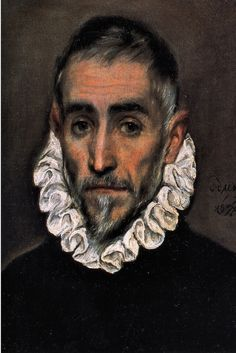 Oil painting. 1584-1594. I love El Greco's use of shadows on faces. There's a certain grim gracefulness here.