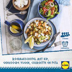 Heerlijk Grieks recept voor roerbakschotel met kip, gedroogde vijgen, courgette en feta  #Lidl #Griekenland