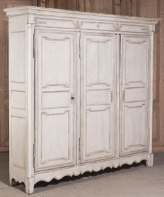 Antique Neoclassical Country French Painted Armoire | Antique Painted Furniture | Inessa Stewart's Antiques #antiques, #furniture, #french