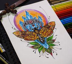 Slavic tattoo design by @ankafaink / Tatuaż słowiański https://www.instagram.com/ankafaink/
