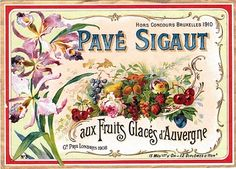 Vintage Clip Art - Beautiful French Label - The Graphics Fairy