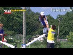 [RM] Lee Kwang Soo Accidentally Ripped Song Ji Hyo Shirt/Funny See Saw game - YouTube