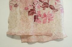 Pink long scarf floral fuchsia orchid pastel by PaisleyAspirations