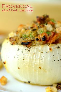 Provencal Stuffed Onions | from The View from Great Island | The perfect fall and holiday side dish!