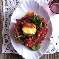 Rezept: Radicchio-Ziegenkäse-Salat mit Granatapfel