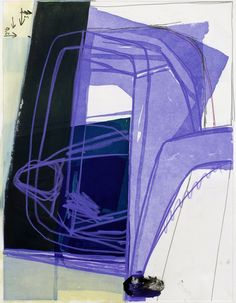 "Amy Sillman  Gouache, chalk and pencil on etching paper  34"" x 28"""