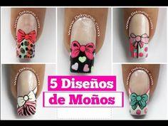 3 Diseños de uñas de mariposas Parte 1 - 3 Easy butterfly nail art tutorial - YouTube Simple Nail Art Designs, Easy Nail Art, Hacks, Youtube, Arc, Ideas, Nail Bling, Work Nails, Nail Techniques
