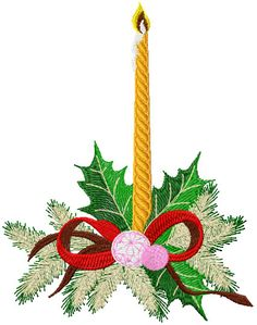 Christmas candle free embroidery design - Christmas free embroidery - Machine embroidery forum